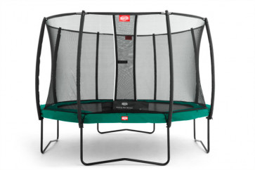 Berg Trampolin Champion 430 Tattoo + Sicherheitsnetz Deluxe 430