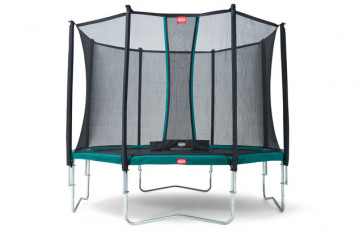 Berg Trampolin Favorit 430 Tattoo + Sicherheitsnetz Comfort 430