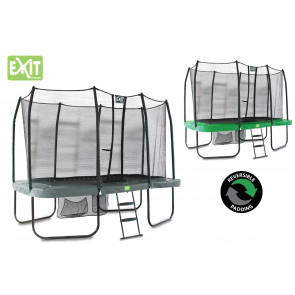 EXIT JumpArenA Rect. All-in 1 244x427 (8x14 Ft) Grün/Grau
