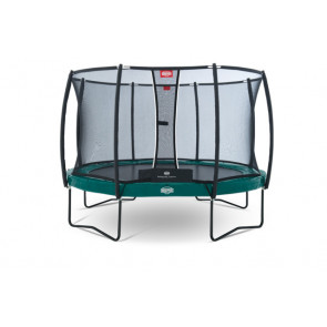 Berg Trampolin Elite+ Regular Grün 430 Tattoo + Sicherheitsnetz T-Serie 430