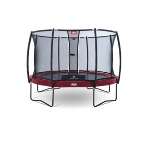 Berg Trampolin Elite+ Regular Rot 430 + Sicherheitsnetz T-Serie 430
